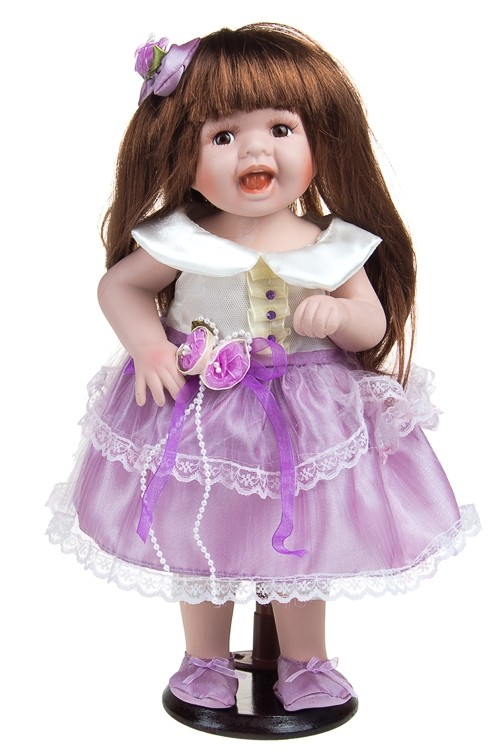 Кукла Шатенка в лиловом