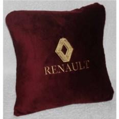 Бордовая подушка с золотой вышивкой Renault