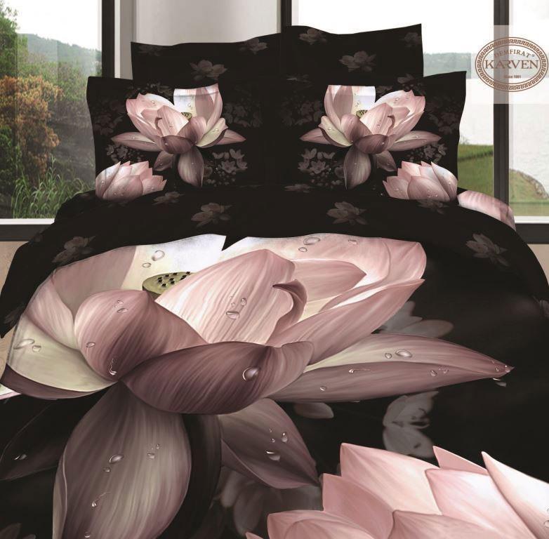 Черный комплект постельного белья Karven