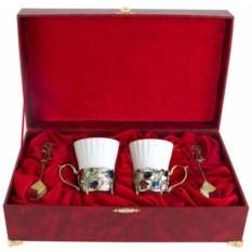 Набор из двух фарфоровых чашек Колокольчики