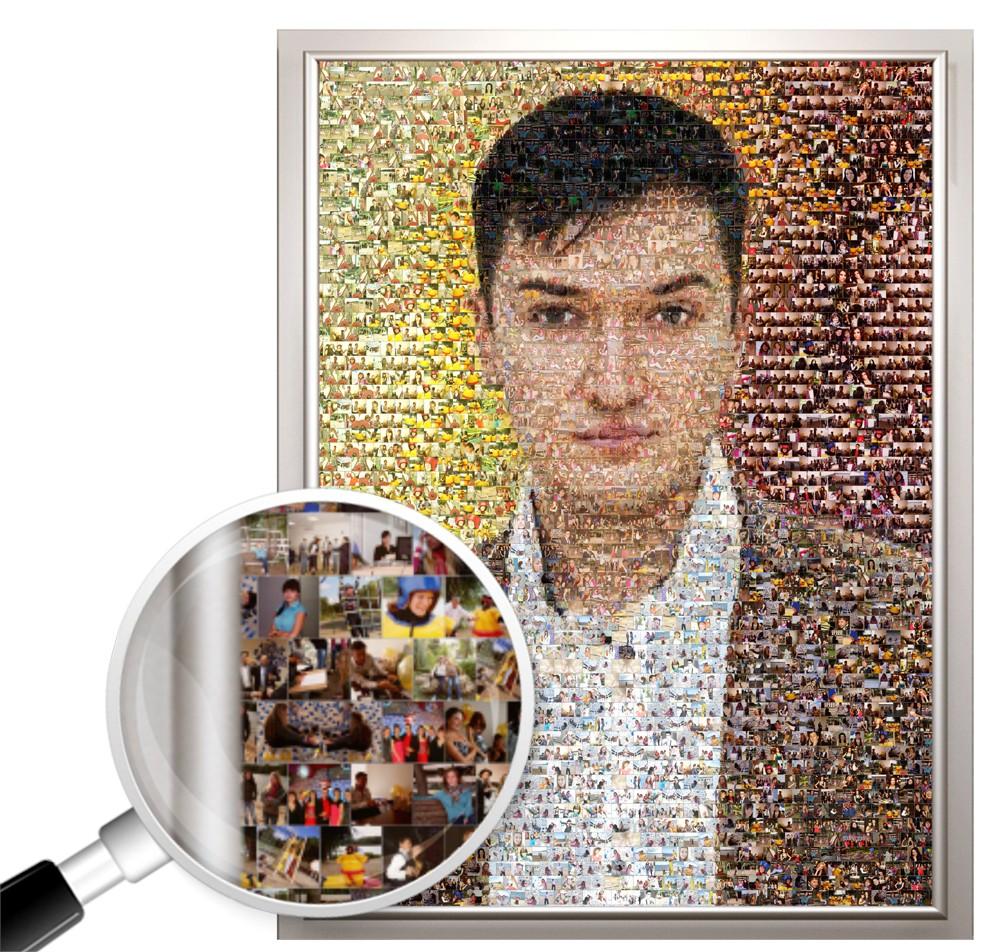 Фотомозаика из ваших фото в подарок парню