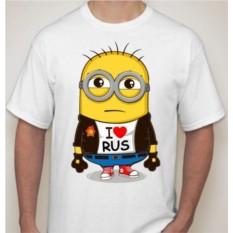 Мужская футболка Миньон. I love rus