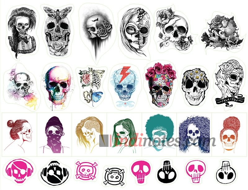 Лист виниловых наклеек Skull