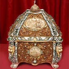 Сувенирный штоф «Ларец» с золотом