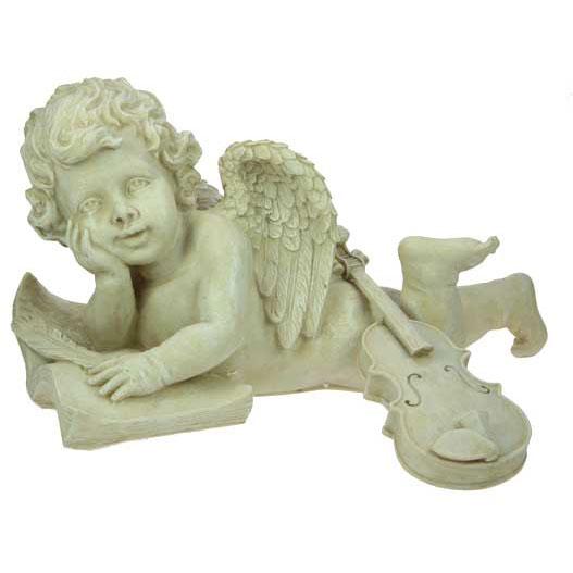 Скульптура ландшафтная Ангел-композитор 41см