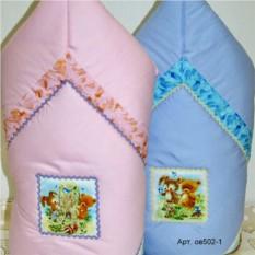 Зимнее одеяло-конверт из сатина с аппликациями