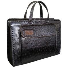 Женский портфель из кожи страуса