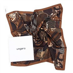 Красивый платок шоколадно-коричневый Ungaro