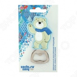 Открывалка для бутылок-магнит Sochi 2014 «Белый Мишка»