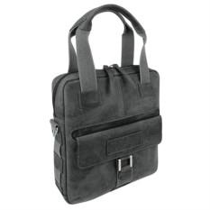 Кожанная сумка вертикальная WENGER ARIZONA, черная