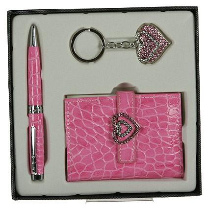 Подарочный набор, розовый с сердцем