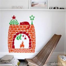 Интерьерная наклейка Рождественская идиллия 1