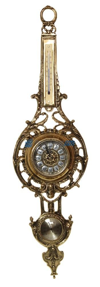 Часы из бронзы настенные с гидрометром Васка да Гама