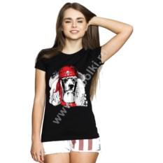 Женская футболка с собакой Pirates only