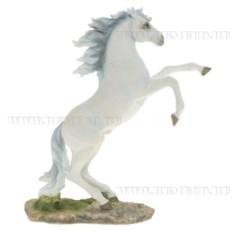 Декоративная фигурка Конь (белый с серой гривой)