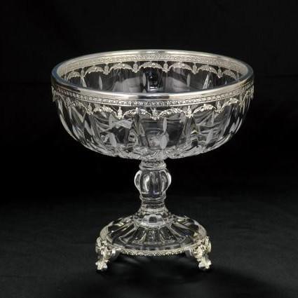 Хрустальная ваза для фруктов CreArt
