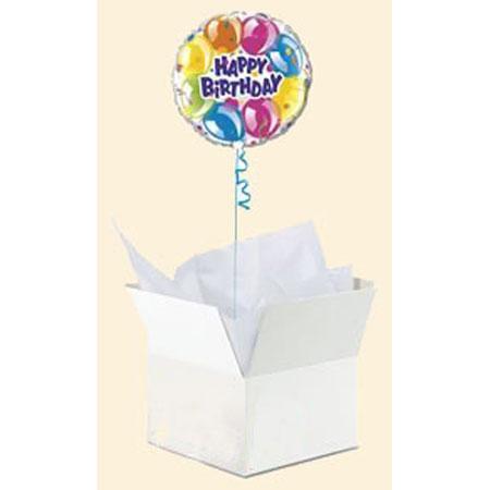 Шар в коробке «С днем рождения»
