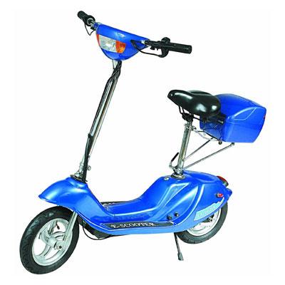 Скутер электрический с багажником