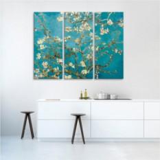 Модульная картина Ван Гог. Цветущие ветки миндаля