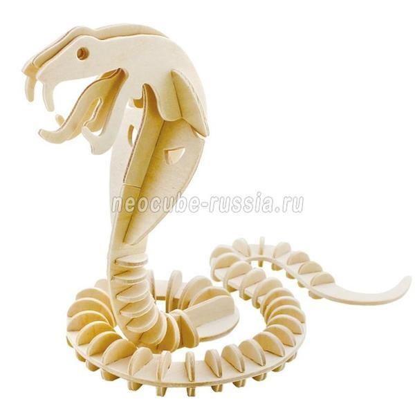 Конструктор 3D-пазл Животные. Змея