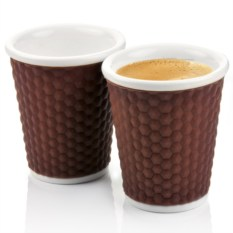 Набор коричневых чашек Honeycomb на 180 мл