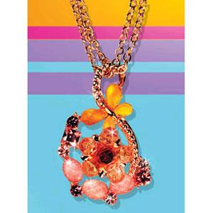 Ожерелье с розовыми вставками