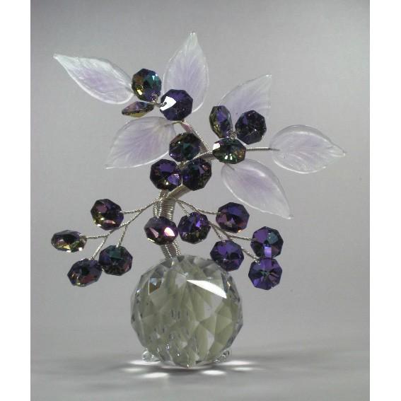 Бонсай на прозрачном шаре, лиловый