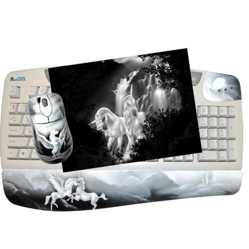 Клавиатура, мышь, коврик «Единорог»
