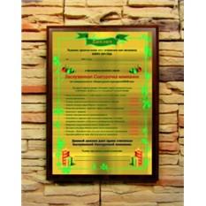 Подарочный диплом Заслуженная Cнегурочка компании