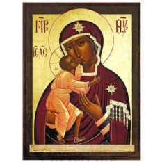 Феодоровская икона Божией Матери на доске