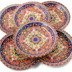 Набор из 6 тарелок Разноцветная