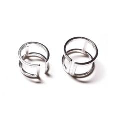 Двойные кольца на фаланги пальцев (серебро, 925)