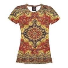 Коричневая женская футболка Эзотерика