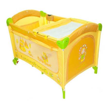 Манеж-кровать CAPELLA C1 двухуровневый YELLOW