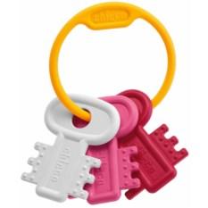 Погремушка Chicco Ключи на кольце (цвет: розовый)