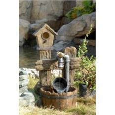 Декоративный фонтан для дачи Скворечник