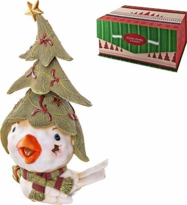 Новогодняя статуэтка Птичка с елкой