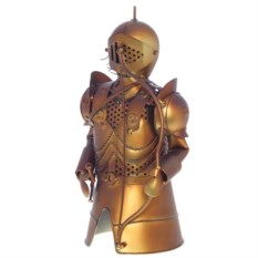 Украшение бутылки вина Рыцарь (цвет: золото)