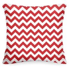 Декоративная подушка «Красный Зиг-заг»