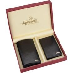 Черный кожаный набор Diplomat