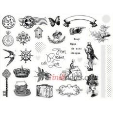 Лист виниловых наклеек Mail art - 2