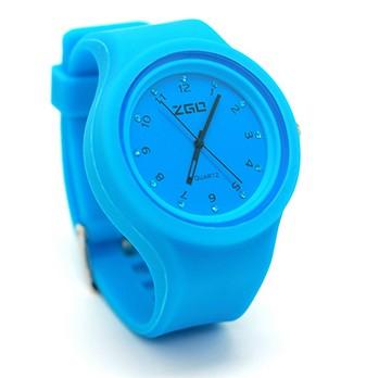 Голубые часы Strass plastic