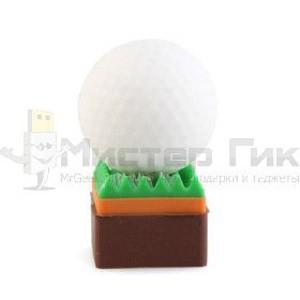 Флешка Мяч для гольфа на газоне, 4Гб