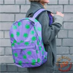 Сиреневый рюкзак Leaves