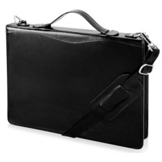 Черная папка-портфель на молнии