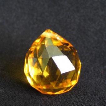 Капля хрустальная золотая d-4,5 см – средство нейтрализации негативной энергии и привлечения Вселенской Любви