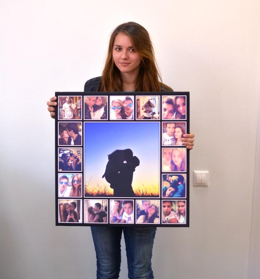 узнать, где распечатать фото в виде картины для подарка вида свечки давали