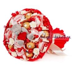Букет конфет с мишкой Miss You