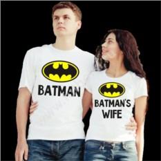 Парные футболки для семьи Batman и Batman's wife