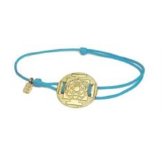Веревочный браслет Янтра Лакшми (золото, 750 проба)